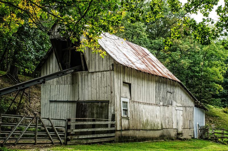 White Weathered Barn