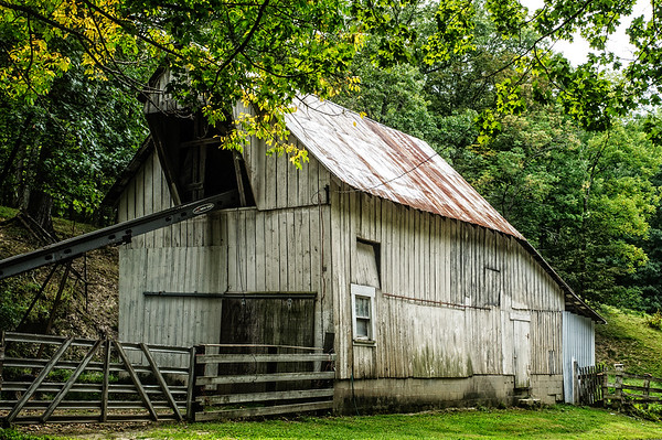 White Weathered Barn