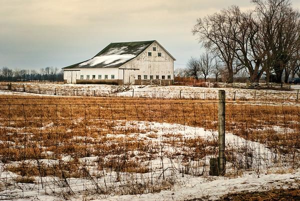 Winter Landscape Barn