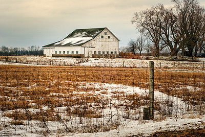 Winter Landscape Barn