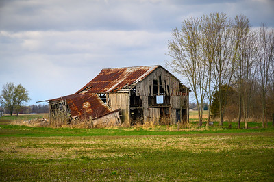 Weathered Prairie Barn