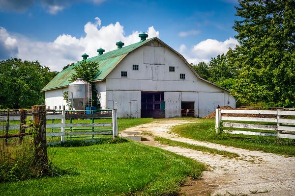 White Dairy Barn