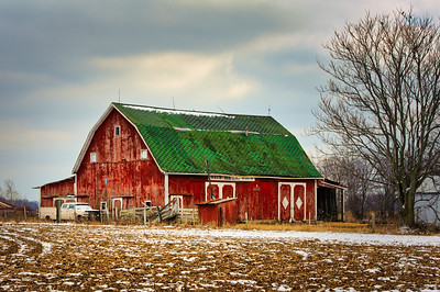 Red Barn and Old Truck