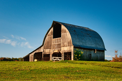 Early Morning Barn