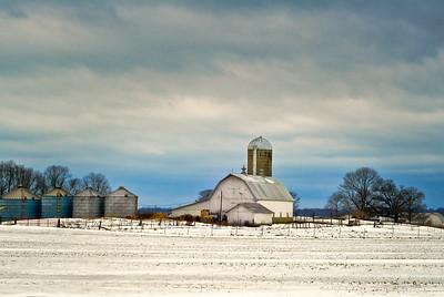 Winter Farm and Barn
