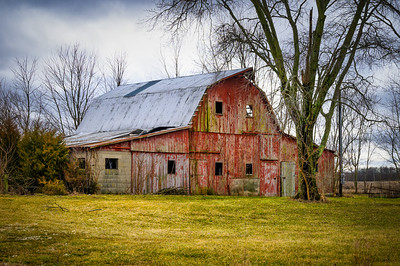 Tattered Red Barn