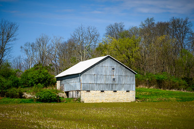 Gray and White Barn