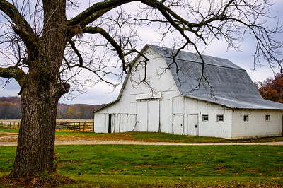 Large White Barn