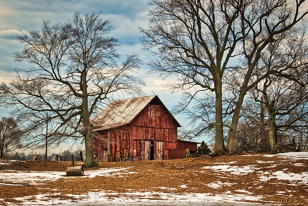 The Midst of Winter Barn