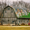 Weathered Barn with Patchwork Roof<br /> Shelby County, Indiana