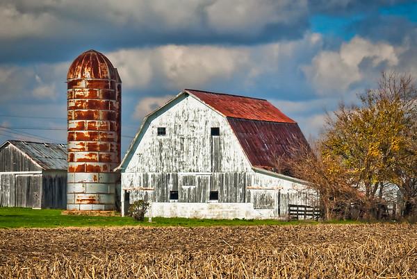Rusty Silo and Barn