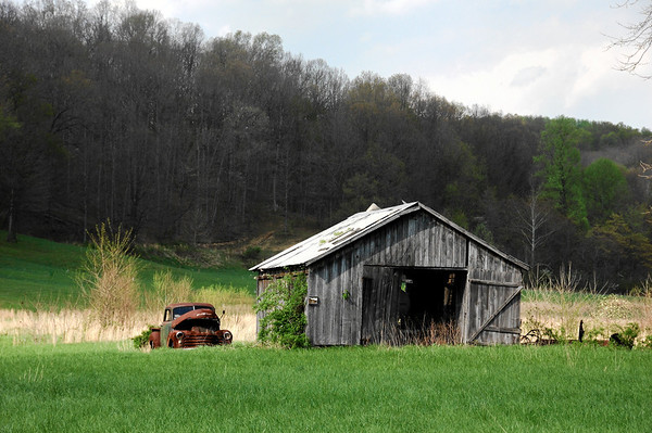 Old Chevy Truck and Barn