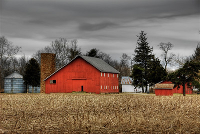 March Morning Barn