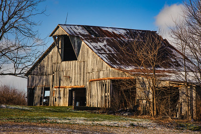Decayed White Barn