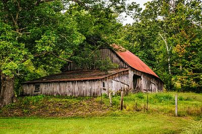 Large Weathered Barn