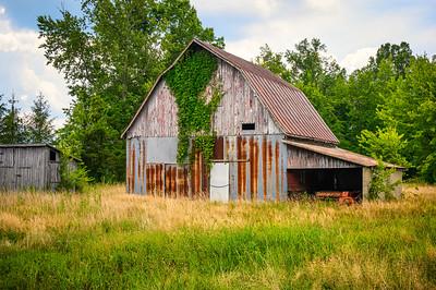 Metal and Wood Barn
