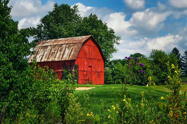Red Barn on Golf Course