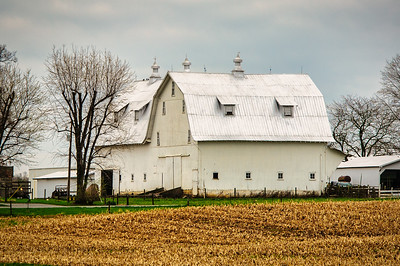 Large White Barn
