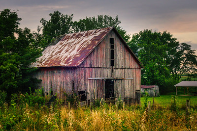 Morning Prairie Barn