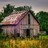 Morning Prairie Barn