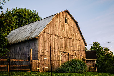 Weathered Barn at Sunset