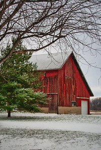 Winter Scene Barn