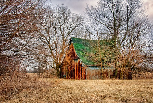 Rusty Metal Barn