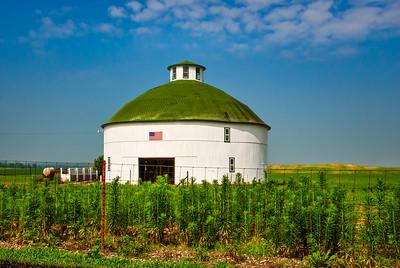Round White Barn
