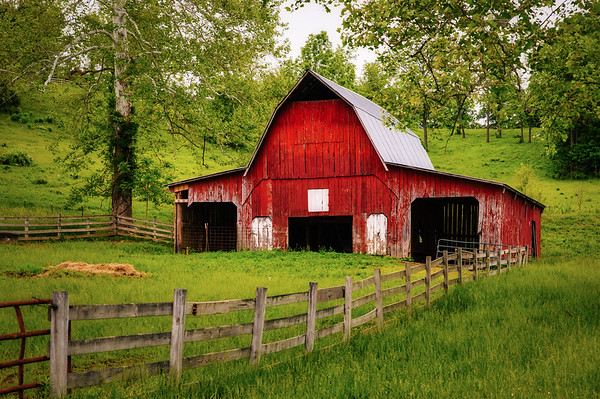 Red Barn and Fence