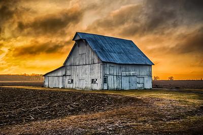 Hoosier Barn at Sunrise