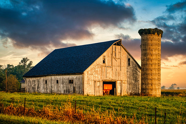 Hoosier Farm Sunrise