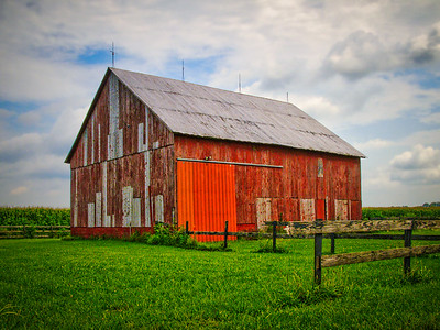 Weathered and Red Barn