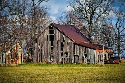 Falling Prairie Barn