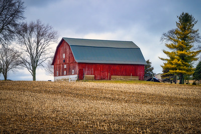 Long Red Barn