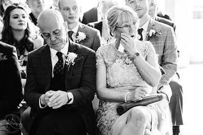 Mum crying on wedding day