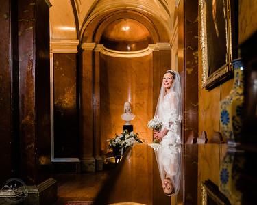 Bride at Prestwold Hall