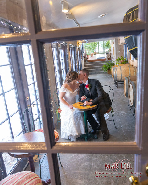 bridal Couple with window