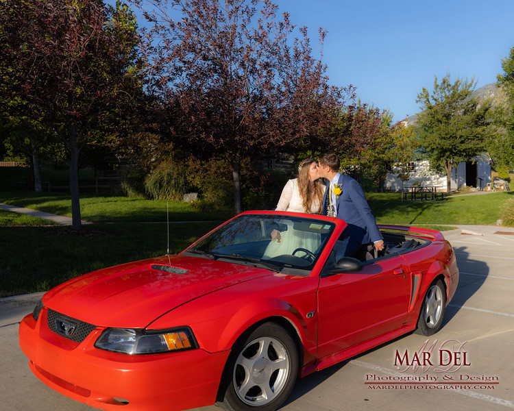 Wedding couple with Car