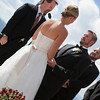 Bride and Groom on the Vail Wedding Deck.
