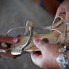 A coin in the bride's shoe for good luck.
