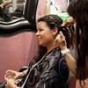 Sara getting ready at Salon Nouveau, Eagle-Vail.
