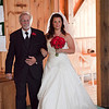 Sara and her father entering the church.