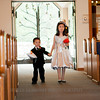 Page Boy and Flower Girl.  Wedding Ceremony at the Beaver Creek Chapel.
