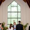 Wedding ceremony at the Beaver Creek Chapel.