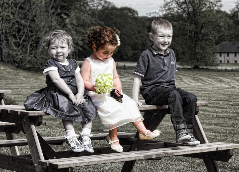 Kerry & Colins wedding Kids sitting on bench PS edit.jpg