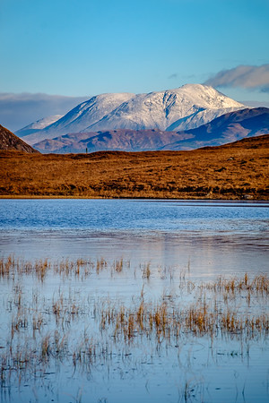 First Snow on the Ben II – Ben Nevis viewed from Lochan Doire a' Bhraghaid, Inversanda, Ardgour