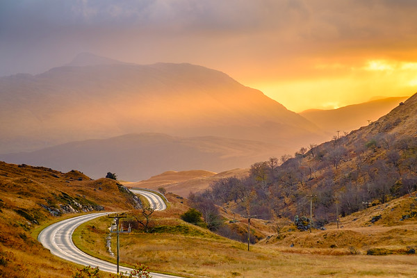 Magnificent Morning - Road to Ardnamurchan, Glen Tarbert, Ardgour