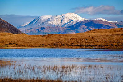 First Snow on the Ben I – Ben Nevis viewed from Lochan Doire a' Bhraghaid, Inversanda, Ardgour
