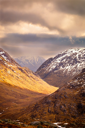 Light in the Glen II - Glen Gour from Druim Glas, Ardgour