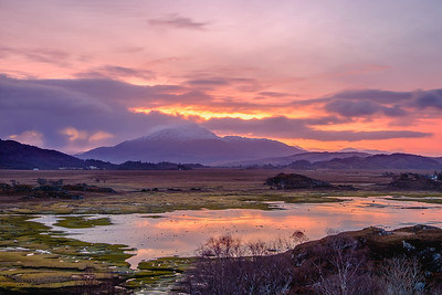 Sunrise Above the Marsh II - Kentra Bay, Gobshealach, Ardnamurchan